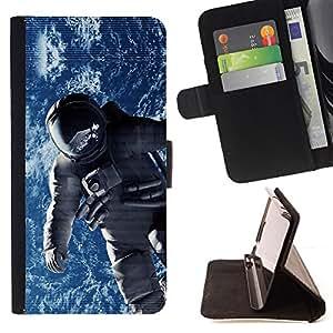 - EARTH SPACESUIT ORBIT ASTRONAUT COSMONAUT - - Prima caja de la PU billetera de cuero con ranuras para tarjetas, efectivo desmontable correa para l Funny HouseFOR Apple Iphone 6 PLUS 5.5