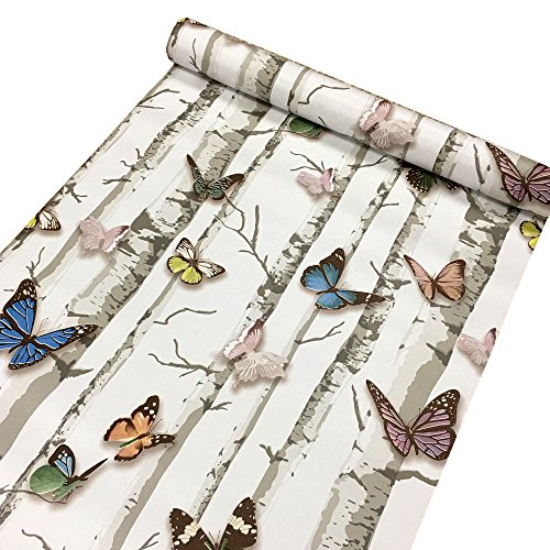 Review SimpleLife4U Colorful Butterfly Contact Paper Decorative Vinyl Self Adhesive Shelf By SimpleLife4U by SimpleLife4U