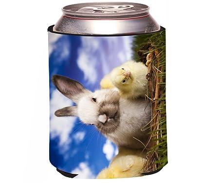 Rikki Knight Rkws Koozie 43338 White Easter Bunny With Yellow