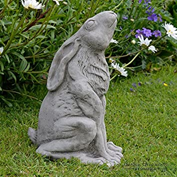 Large Stone Garden Ornaments Garden ornaments by onefold an20 large moon gazing hare stone garden garden ornaments by onefold an20 large moon gazing hare stone garden ornament multi colour workwithnaturefo