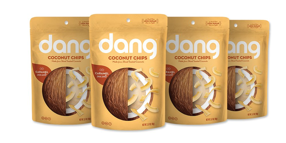 Dang Toasted Coconut Chips, Paleo, Gluten Free, Caramel Sea Salt, 3.17 Ounce (4 Count)