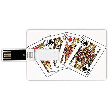8GB Forma de tarjeta de crédito de unidades flash USB Reina ...