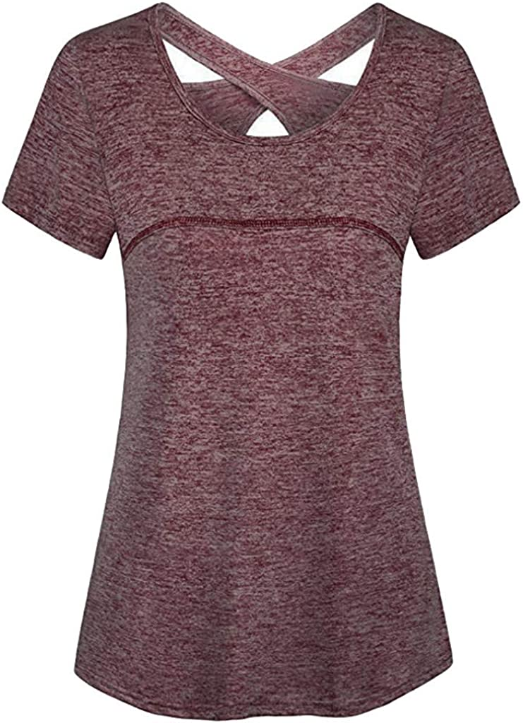 Adeliber Womens Short Sleeve T-Shirt Top Casual Large Size Lace Short Sleeve V-Neck T-Shirt Top Shirt