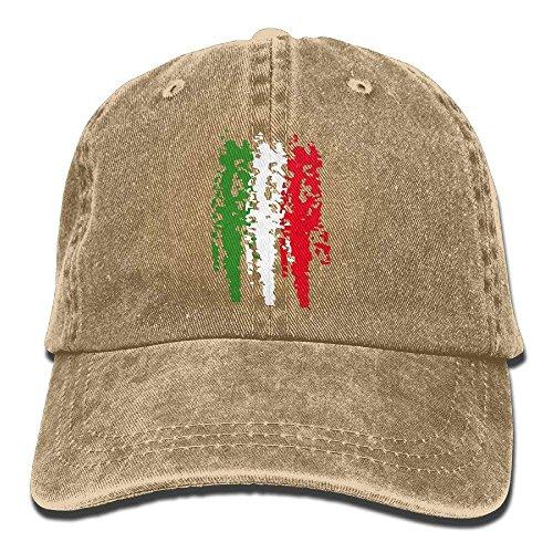 (Whenpigsfly Italia Italy Italian Flag Mens&Womens Vintage Style Classic Sandwich Cap Baseball Cap Design2)