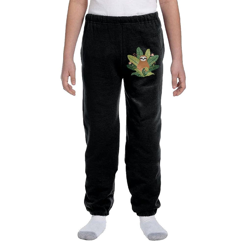 Boys Cotton Sweatpants Pirate Skull with Bandana Adjustable Waist Pants with Pocket