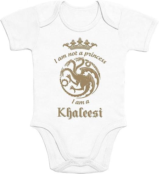 Shirtgeil Sono Khaleesi Regina dei Draghi Regalo per Piccole Fans Body Neonato Manica Corta