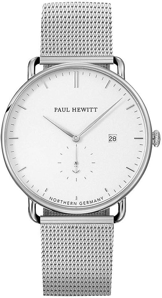 PAUL HEWITT Armbanduhr Edelstahl Grand Atlantic Line White