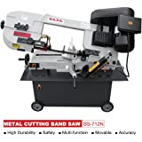 KAKA Industrial BS-712N 7x12 Inch Metal Cutting Bandsaw, Solid Design Metal Bandsaw, Horizontal Bandsaw, High Precision Metal Band Saw, Build-In Safety Settings, Space Saver Metal Cutting Band Saw