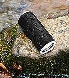 Rockville Portable Waterproof Bluetooth Speaker for Audiophiles Black ROCK LAUNCHER BK