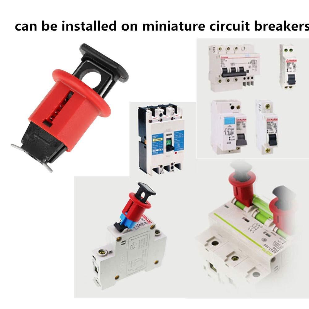 mini bloque disjoncteur verrouillage de s/écurit/é /électrique de commutateur dair de verrouillage de disjoncteur miniature en nylon pour lisolation de puissance