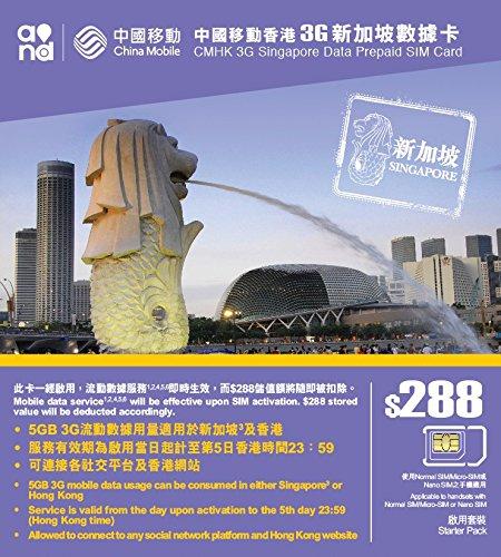 Tarjeta SIM de Prepago de Singapur - 5 GB para 5 días ...
