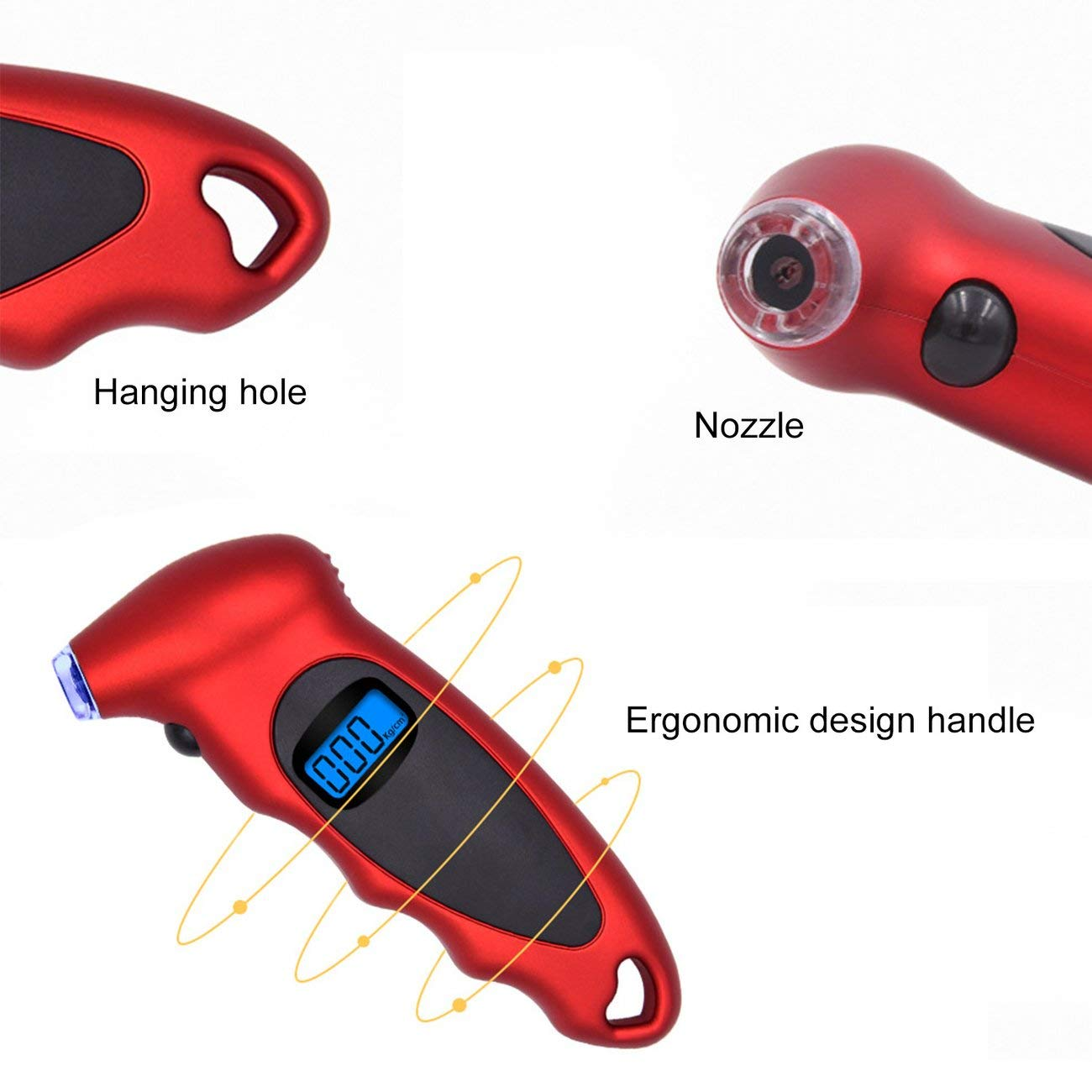 High-Precision Tire Pressure Gauge 0-150 PSI Backlight Digital Tire Pressure Monitoring Car Tire Pressure Gauge