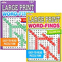 Puzzles for Adults | Adult Puzzles Word Search Large Print | Puzzle Books Bundle Set of 2