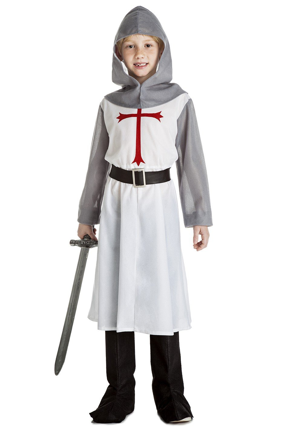 Disfraz de Caballero Medieval Blanco para niño: Amazon.es ...
