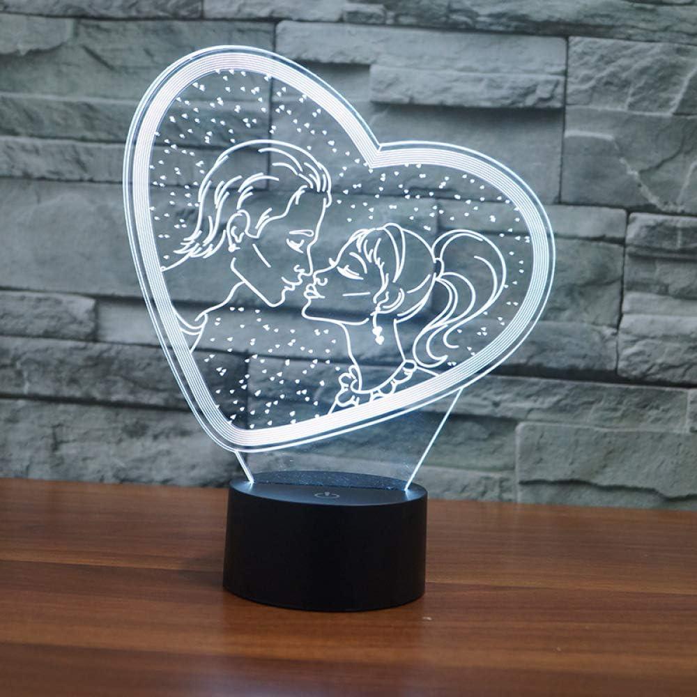 BFMBCHDJ Día de San Valentín Regalo romántico Lámpara 3D Ahorro de ...