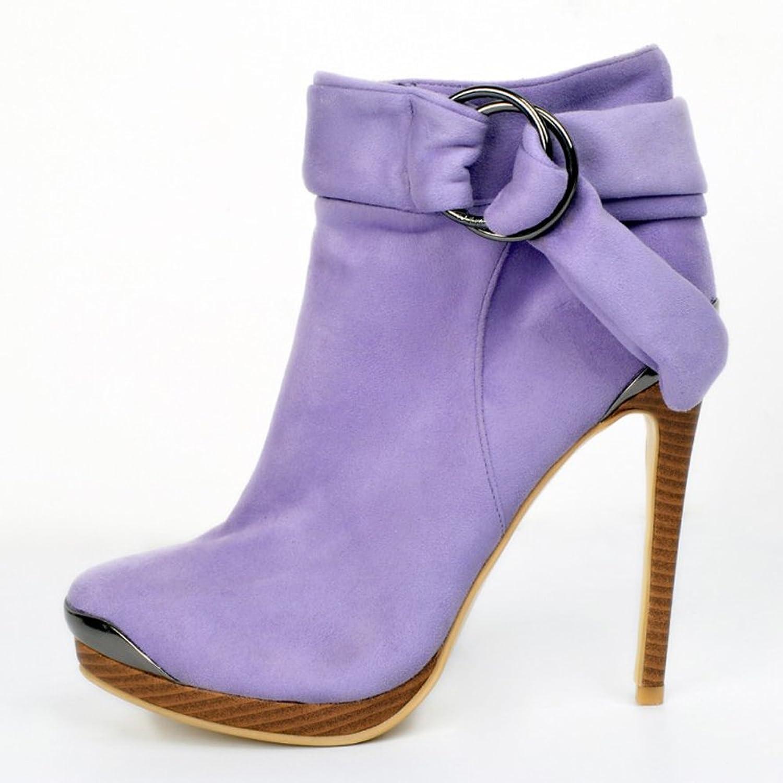 Kolnoo Damen Faschion 13cm dünner Absatz Plattform Knöchel Bügel Winter  lädt Partei Schuhe auf: Amazon.de: Schuhe & Handtaschen