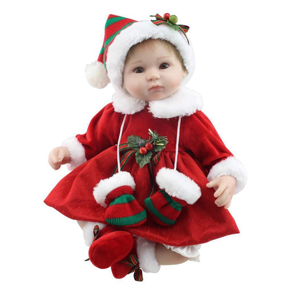 Carremark Bambola in Silicone 42 cm Natale Reborn Bambola Bambola Bambino Giocattolo Realistico Baby Compleanno Regali