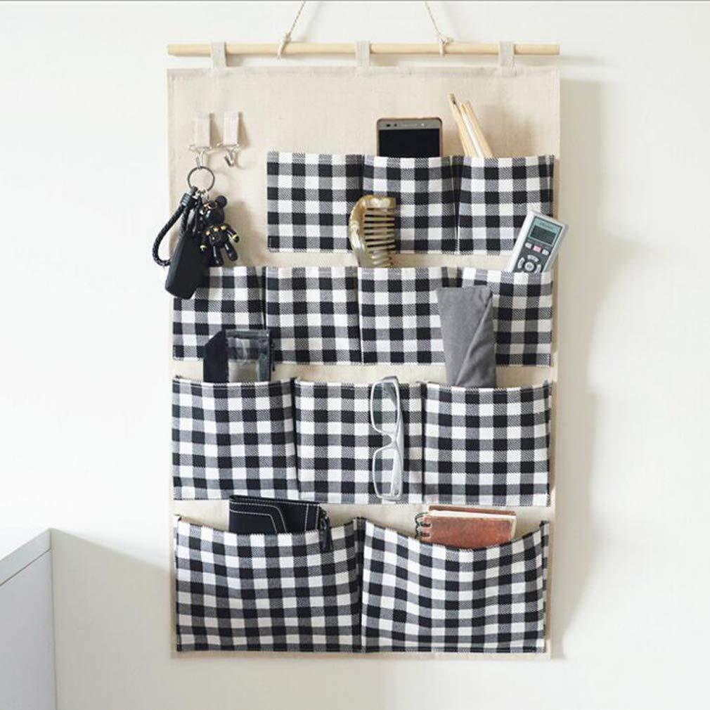 45 AEKKA Haushalt Aufbewahrungstasche Wandbehang 12 Taschen Mehrzweck-H/ängetasche Wohnzimmer Schlafzimmer K/üche Badezimmer Mehrschicht-Aufbewahrungstasche 75CM