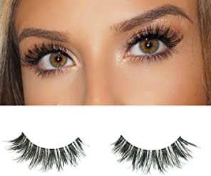 c1bbac85c6d Milanté Beauty Devious Vegan Strip False Lashes Wispy Black Natural Thick  Long Full Reusable Fake Eyelashes