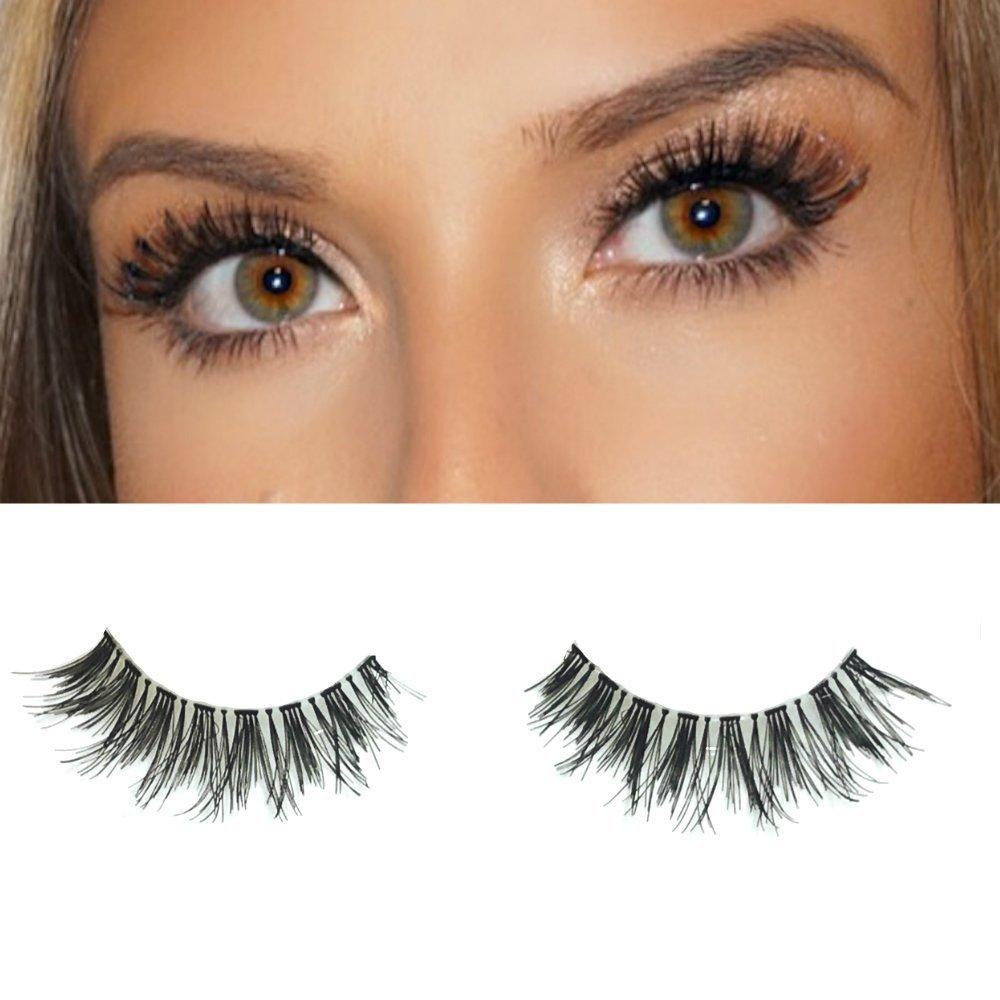 0b1e3ea70ee Amazon.com : Milanté Beauty Devious Vegan Strip False Lashes Wispy Black  Natural Thick Long Full Reusable Fake Eyelashes : Beauty