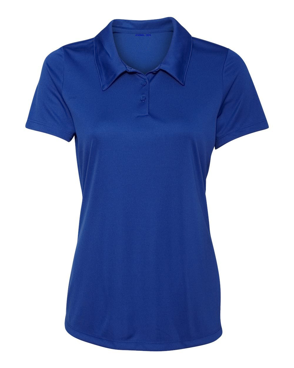 Women's Dry-Fit Golf Polo Shirts 3-Button Golf Polo's in 20 Colors XS-3XL Shirt ROYAL-XL by Animal Den