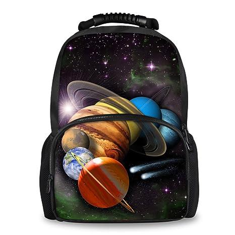 0cda54eda325 Coloranimal Personalized Galaxy Planets Printed Children School Bags Men  Felt Backpack