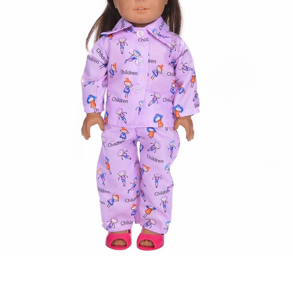 sunnymi Cute Pajamas Nightgown Clothes for 18 inch Our Generation Girl Doll