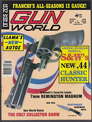 (GUN WORLD Smith & Wesson Classic Hunter 7mm Remington Magnum Llama Calico 3 1988)