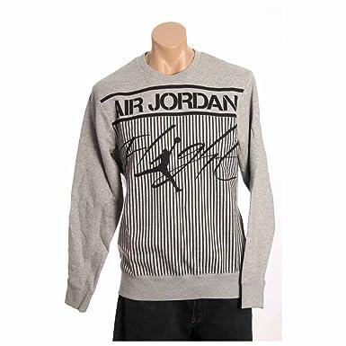 511e4b934b75 Nike air jordan colossal flight fleece crewneck sweatshirt 606312 063  jumpman23 jumper (large) Grey