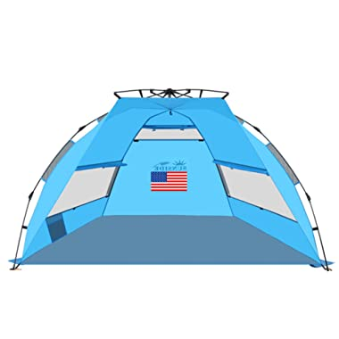 SUNSIDE Instant Pop Up Beach Tent Lightweight
