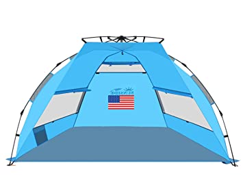 SUNSIDE Instant Pop Up Beach Tent Lightweight  sc 1 st  Amazon.com : small pop up beach tent - memphite.com