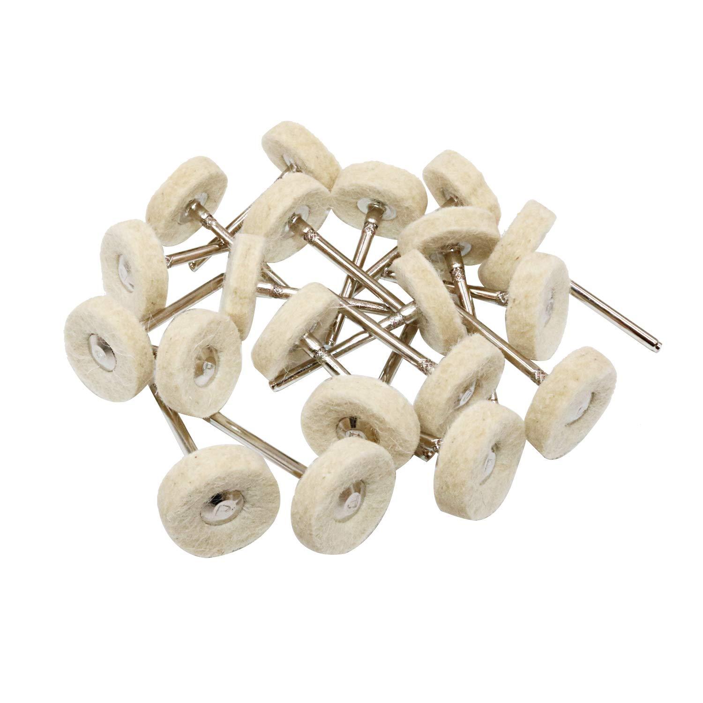 Niupika Laine polissage Buff de roue Roues de polissage Dremel Outil rotatif Accessoires Vernis Bijoux Montre Miroir 3/mm pour mandrin 20/pi/èces