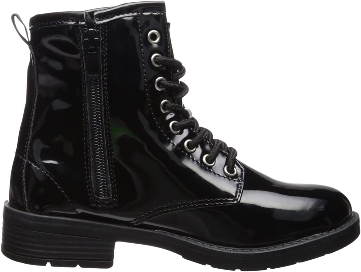 bebe Girls Patent Combat Boots with