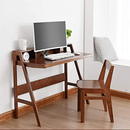Astonishing Amazon Com Cjc Table Chairs Set Computer Desk Natural Gmtry Best Dining Table And Chair Ideas Images Gmtryco