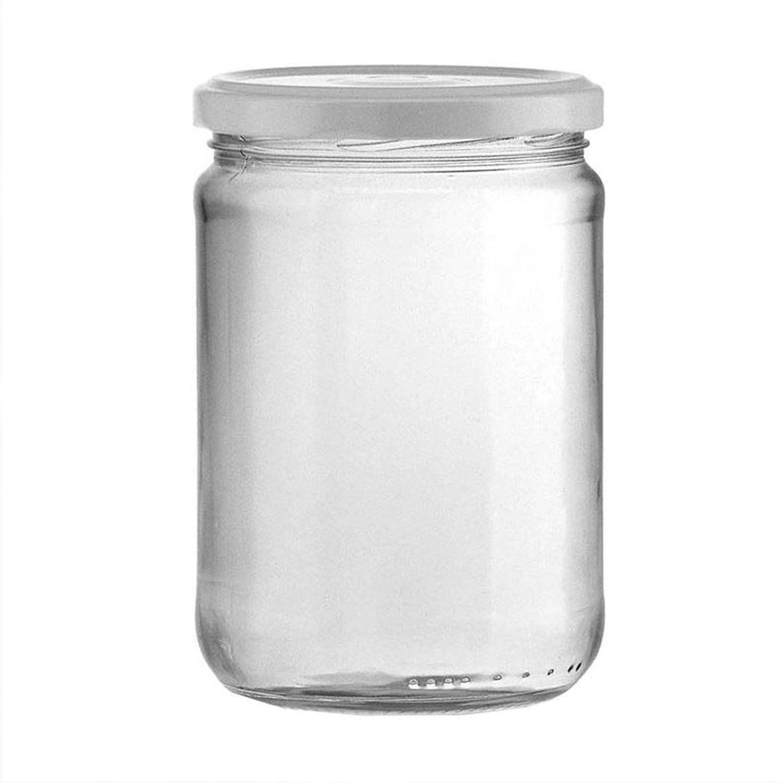 Milo srl PZ 12 Boccaccio Vaso in Vetro Barattolo 1 kg per Conserve E Marmellate con Tappo