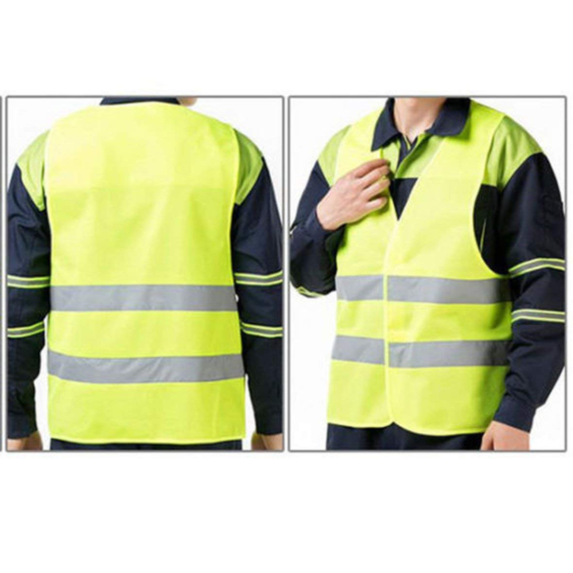 Tivolii Reflective Stripe Traffic Warning Vest Working Clothes High Visibility Protective Vest for Sanitation Worker Assistant Police