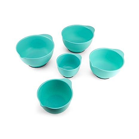 Amazon Com Kitchenaid Mixing Bowls Set Of 5 Aqua Sky Kitchen