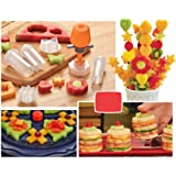 Dealglad® New Creative Plastic Cake Cookie Vegetable Fruit Shape Cutter Slicer Veggie Mold Set DIY Decorating Tools