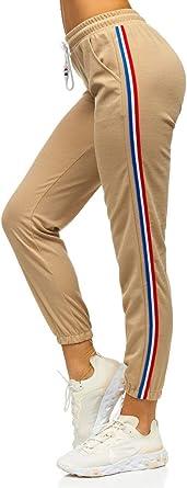 BOLF Mujer Pantalón Deportivo Pantalón de Chándal Largos Jogger Pantalones de Algodón Slim Fit F6F: Amazon.es: Ropa y accesorios