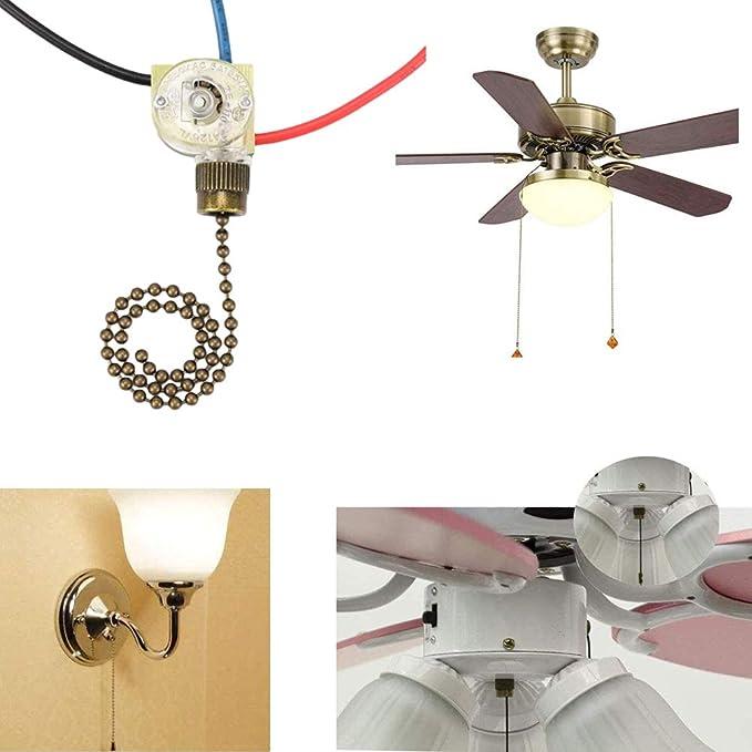 Interruptor para ventilador de techo Hunter Zing Ear ZE-110, 3 ...
