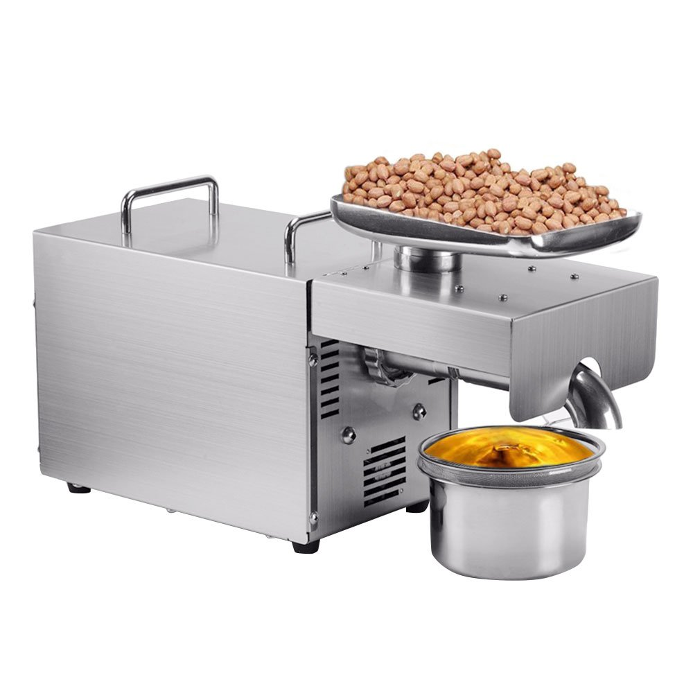 Oil Press Machine, PROMOTOR 110V Household Small Oil Presser Machine, Easily Extract Nut Peanut Sesame Rapeseed Walnut Oil