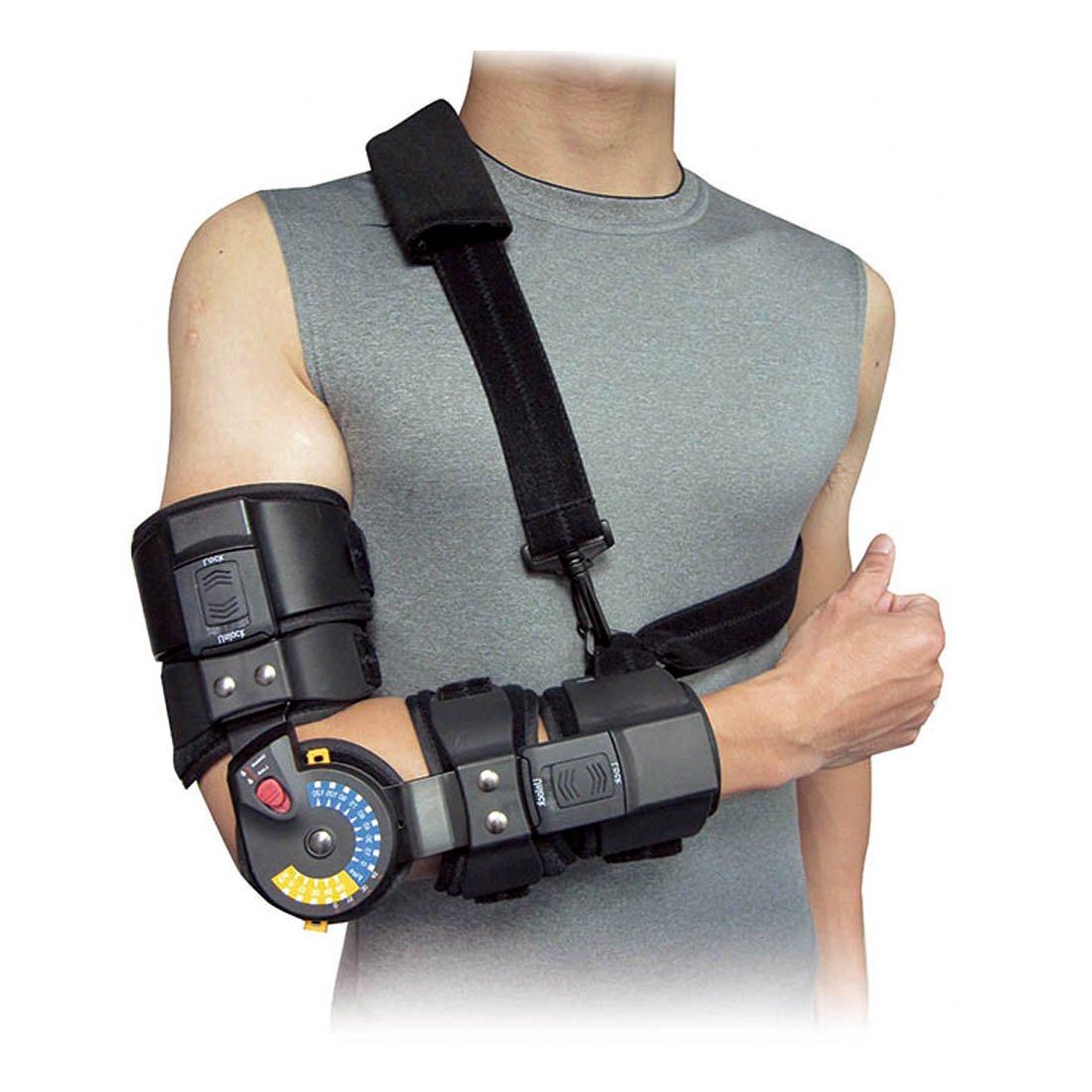 Orthomen ROM Elbow Brace with Sling - Size: Universal (Left)
