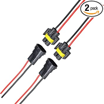 Amazon.com: MUYI 2 Sets H11 H8 Adapter Female and Male Connector Pigtail Socket  Wiring Harness for Headlight Fog Light: AutomotiveAmazon.com