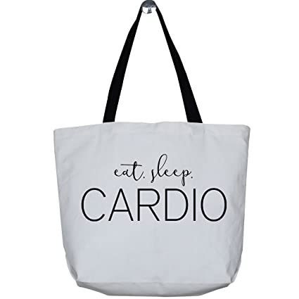 3fd7b53c186235 Image Unavailable. Image not available for. Color: Mad2Order Large Funny  Workout White Canvas Gym Tote ...