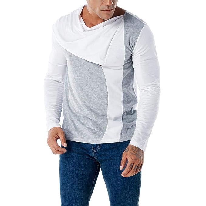 Camisetas Hombre Manga Larga Moda ❤️AIMEE7 Camisetas Hombre Manga Larga Otoño Camiseta De Manga Larga