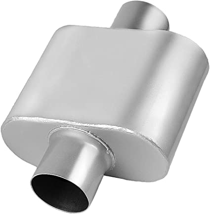 """Universal Two Chamber Performance Street Race Exhaust Muffler 2.50/"""" Inlet Outlet"""
