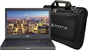 Dell Precision M4800 Mobile Workstation Bundle with Intel i7-4810MQ Quad Core CPU, 8GB DDR4 RAM, 1TB SSD, 15.6 inch Display, Laptop Bag (Renewed)