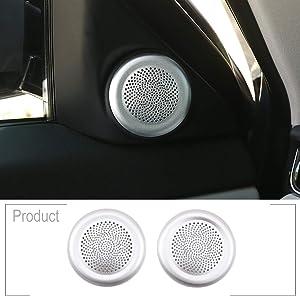2pcs ABS Chrome Car Aluminum Alloy Tweeter Speaker Cover Trim for Range Rover Evoque 2020 Year Accessories