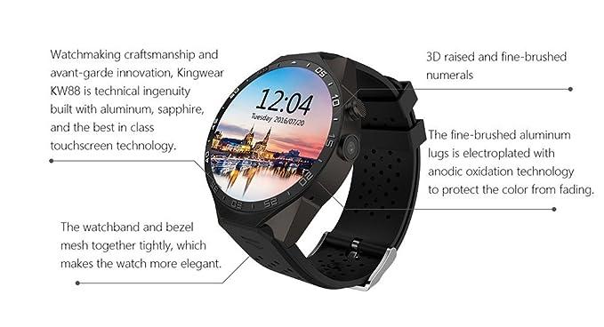 kingwear kw88 pantalla AMOLED Android 5.1 3 G Smartwatch teléfono ...