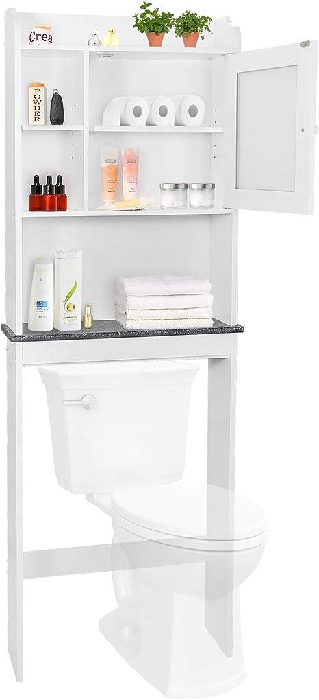 Bathroom Floor Cabinet Storage Toilet Bath Organizer Drawer Shelf White Wood New
